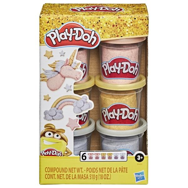 Play-Doh Knete Metallic 6er Pack