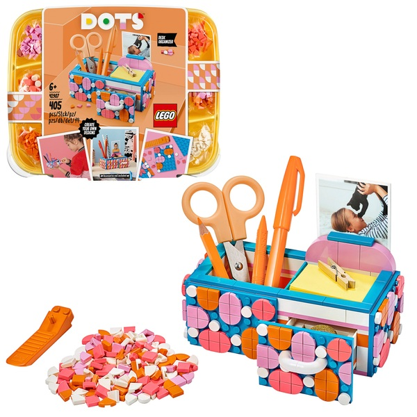 DOTS 41907 Desk Organiser DIY Arts & Crafts Set by LEGO
