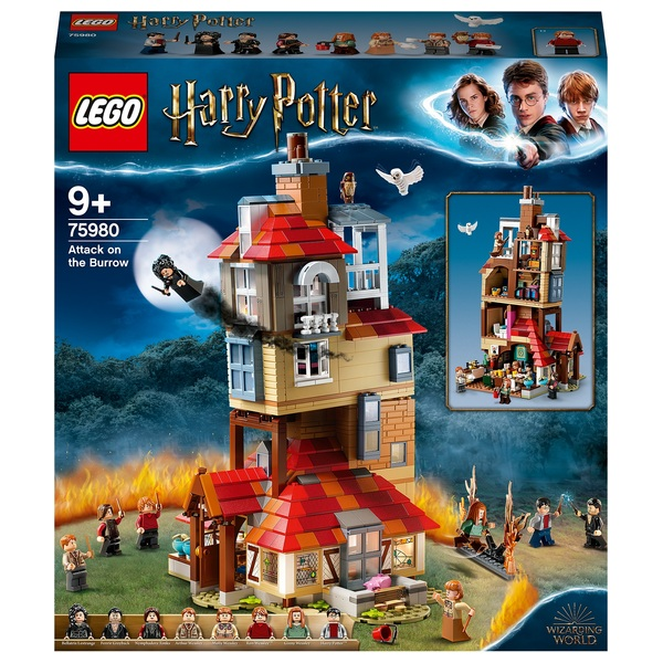 LEGO 75980 Harry Potter Attack on the Burrow Weasley House Set