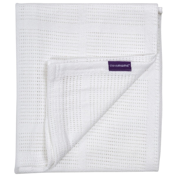 Cotton Cellular Blanket 70x90cm White