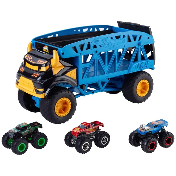Hot Wheels Monster Mover and 3 Trucks Vehicle