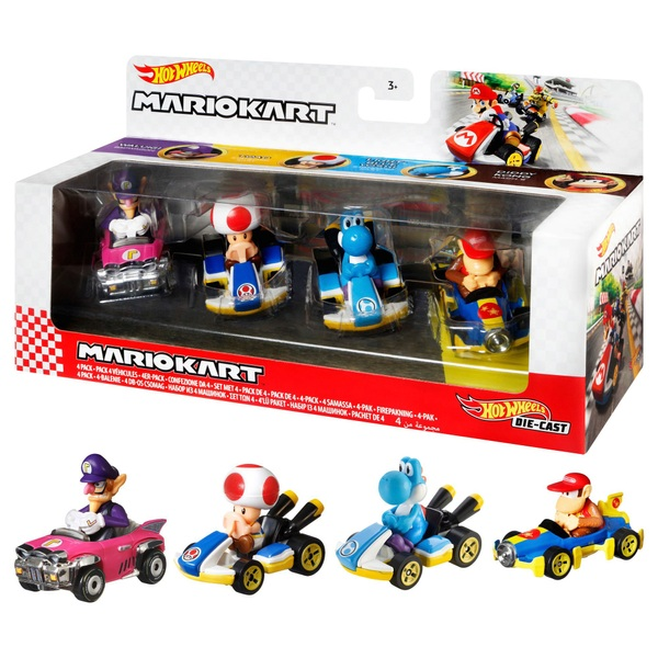 Hot Wheels Mario Kart Diecast 4-Pack