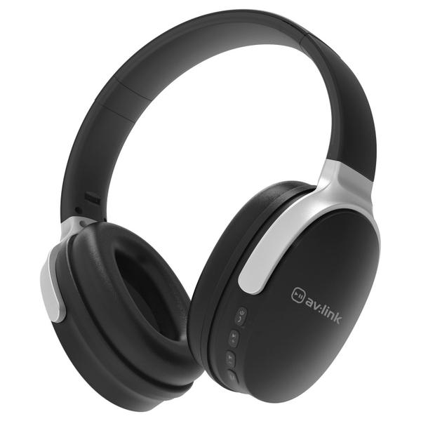 AV Link Bluetooth Over Ear Headphone - Black