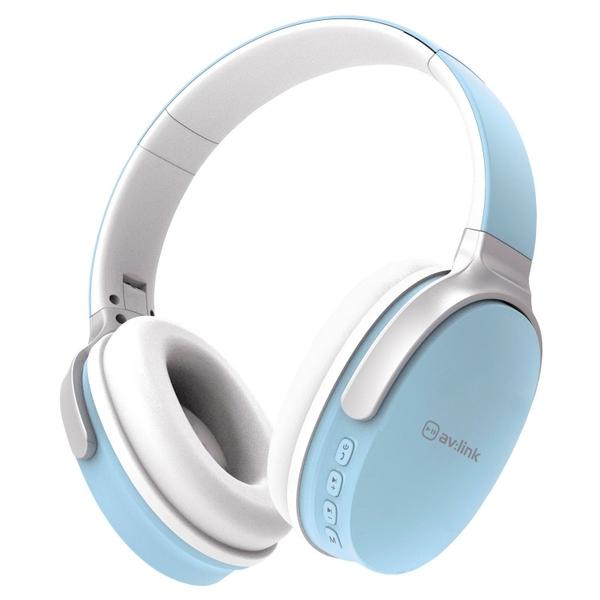 Av Link Bluetooth Over Ear Headphone - Blue