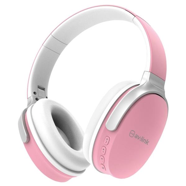 AV Link Bluetooth Over Ear Headphone - Pink