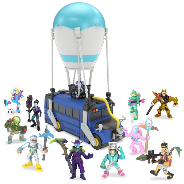 Fortnite Battle Royale Collection Battle Bus Deluxe Edition with 10 Figures