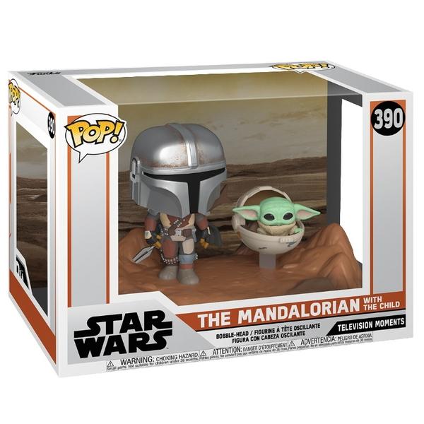 "POP! Vinyl Star Wars The Mandalorian Mandalorian with The Child ""Baby Yoda"""