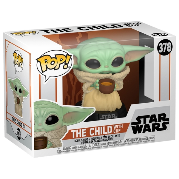 """POP! Vinyl: Star Wars Mandalorian The Child """"Baby Yoda"""" with Cup"""