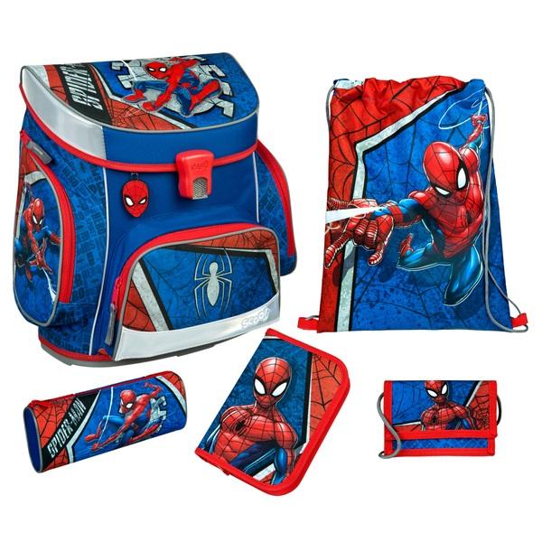 Scooli Campus Fit Schulranzen Set Spider Man 6-tlg.