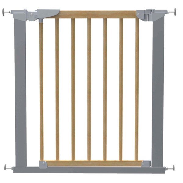BabyDan Tora True Pressure Fit Wood Safety Gate - Fits Openings from 71.3 up to 77.6cm