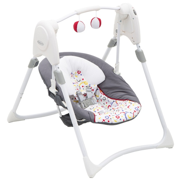 Graco Slim Spaces 2 in 1 Swing Confetti