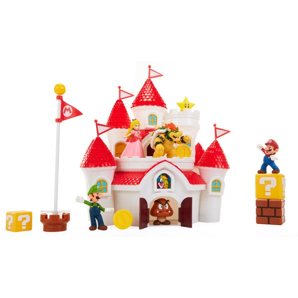 Nintendo Super Mario Deluxe Mushroom Kingdom Castle Playset