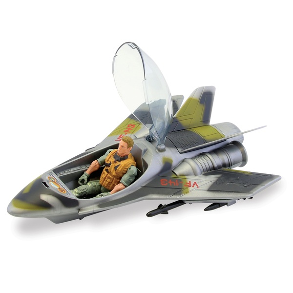 The Corps! First Response Combat Jet Vehicle with Poseable Action Figure