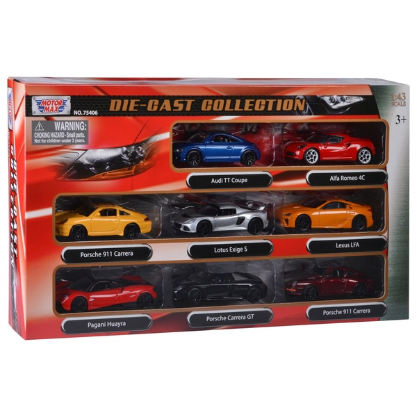 1:43 Scale Die Cast Vehicle - 8 Pack