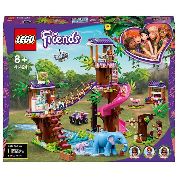 LEGO 41424 Friends Jungle Rescue Base Treehouse Vet Set ...