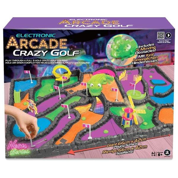 Electronic Arcade Crazy Golf 2.0 Neon Series