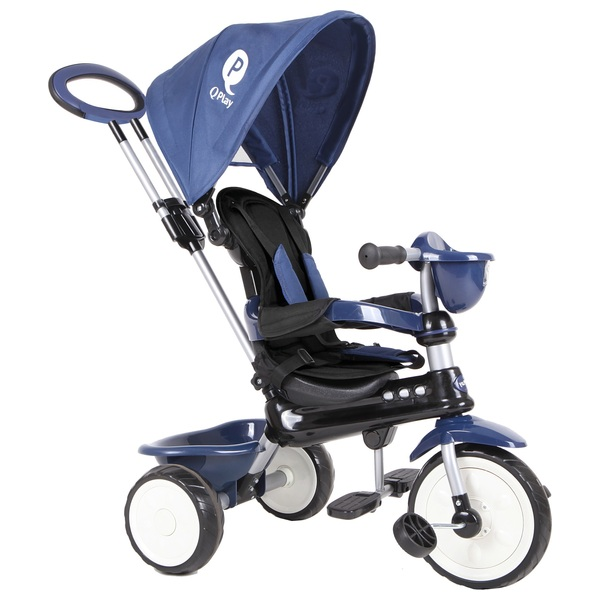 Q Play Comfort 4-in-1 Trike Dark Blue