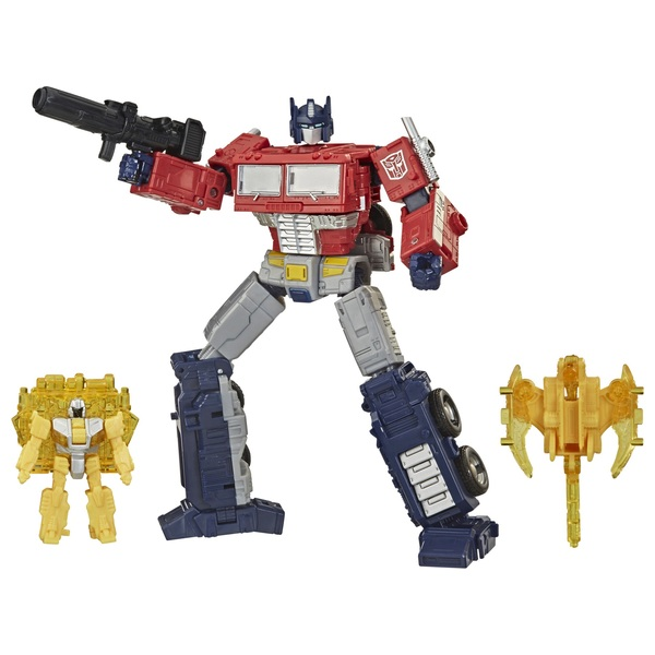 Optimus Prime Transformers War for Cybertron Battle 3-Pack Collectible Action Figure