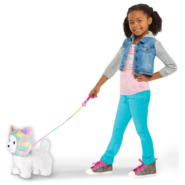 Barbie Walking Puppy with removable Unicorn Hood