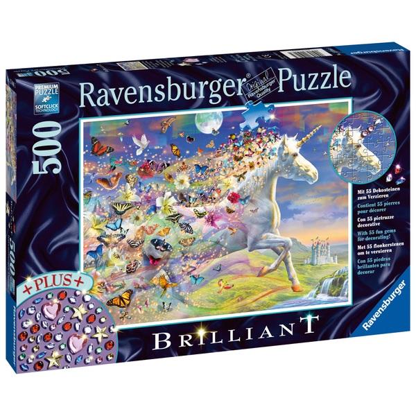 Ravensburger Puzzle: Schmetterlingseinhorn, 500 Teile
