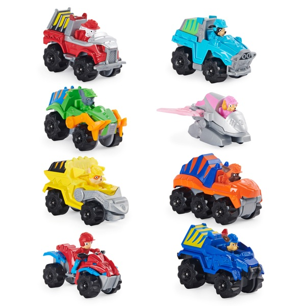PAW Patrol True Metal Mini Scale Dino Rescue 8 Pack Collectible Die-Cast Vehicles