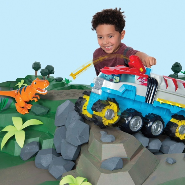 PAW Patrol Dino Rescue Dino Patroller Motorised Team Vehicle with Chase & T-Rex