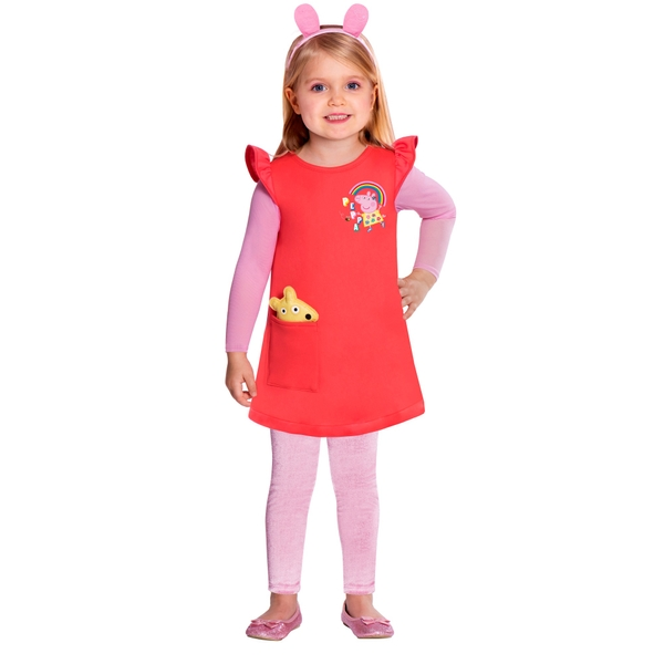 Peppa Pig Dress with Headband and Leggings