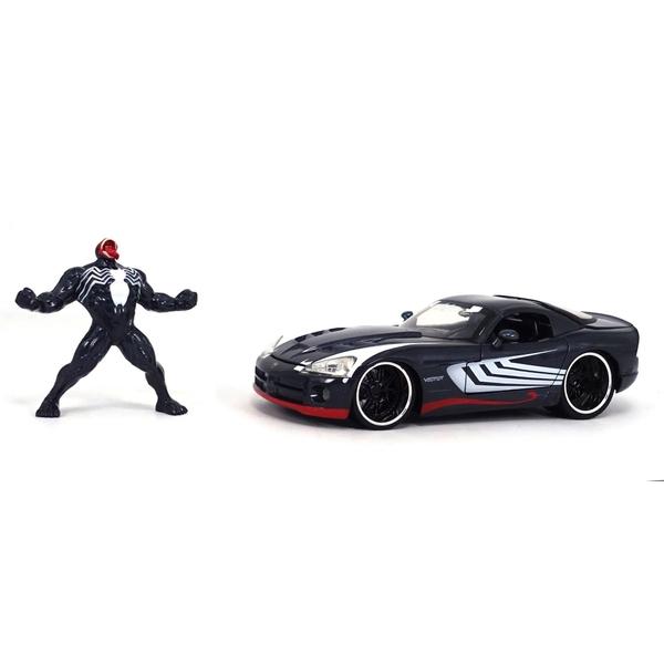 1:24 2008 Diecast Collectible Dodge Viper SR10 with Venom Figure