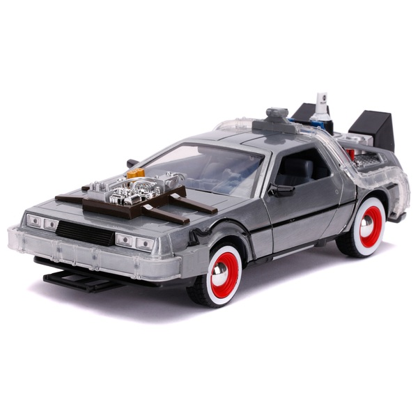 1:24 Back to the Future DeLorean Time Machine with Lights Diecast Collectible Car