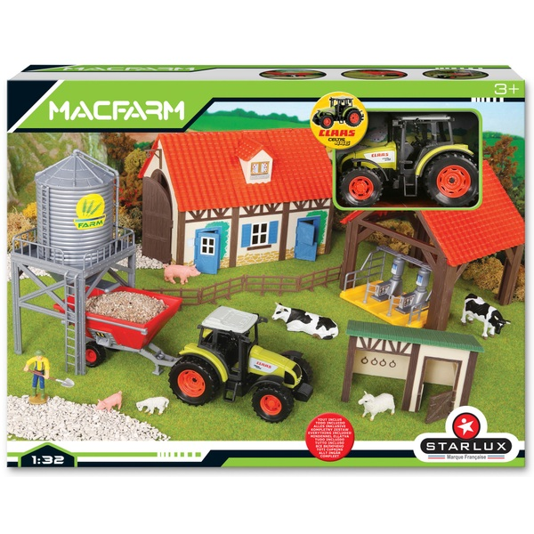 Farm Yard Set with CLAAS Tractor