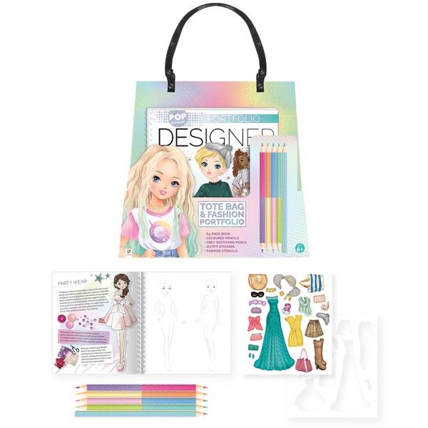 Pop Fashion Designer Tote Bag and Fashion Portfolio