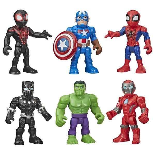 Playskool Heroes Marvel Super Hero Adventures 12.5cm Action Figure 6 Pack
