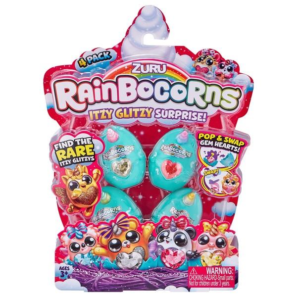 Rainbocorns Itzy Glitzy Surprise Collectible Eggs 4 Pack By ZURU