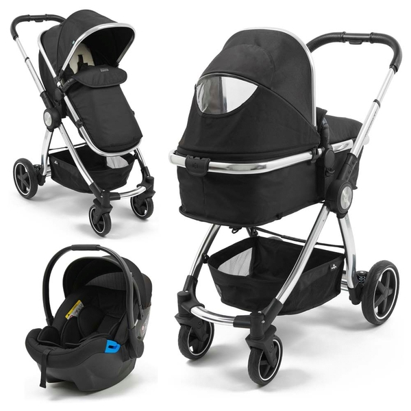 Babylo Panorama XT Travel System & Car Seat Black Chrome