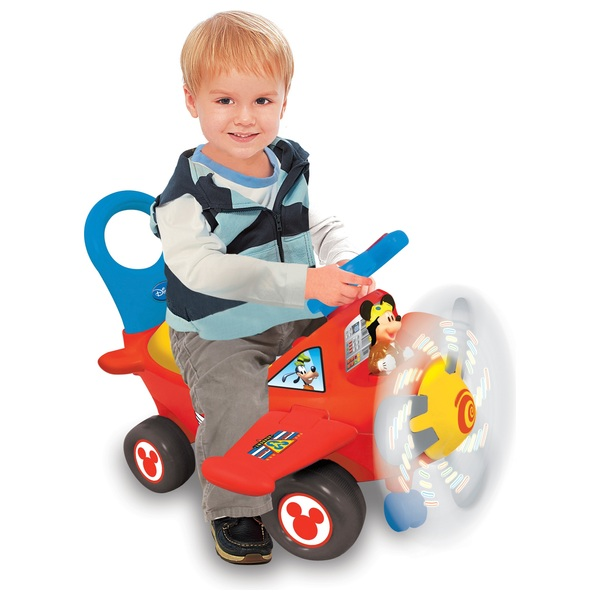 4-in-1 Mickey Activity Plane Ride On