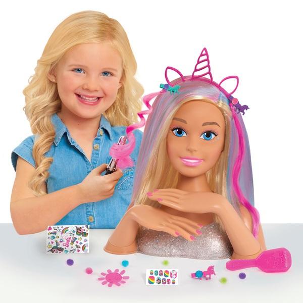 Barbie Glitter Hair Deluxe Styling Head