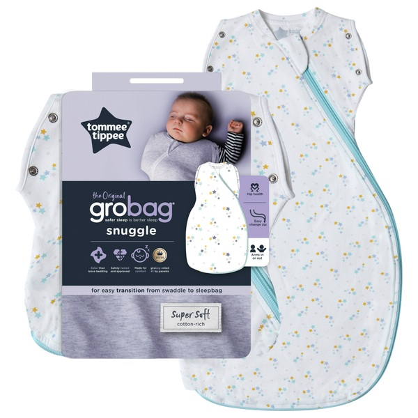 Tommee Tippee Grobag 0-4 Months 2.5 Tog Baby Stars Snuggle