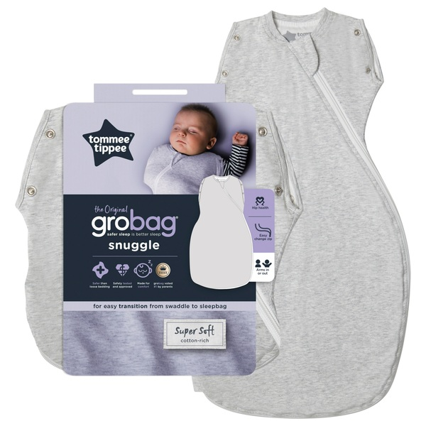 Tommee Tippee Grobag 0-4 Months 1.0 Tog Grey Marl Snuggle
