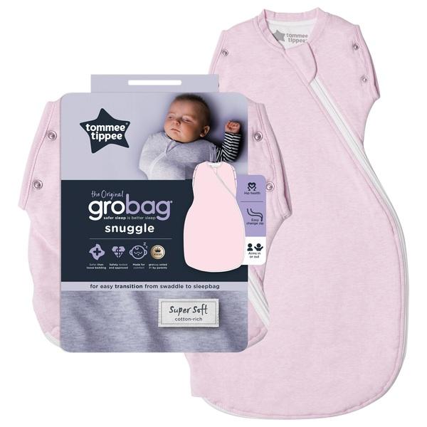 Tommee Tippee Grobag 0-4 Months 2.5 Tog Pink Marl Snuggle