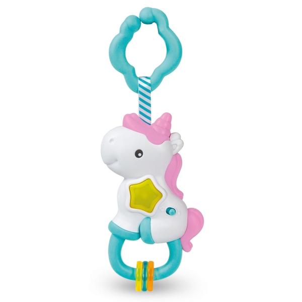 Baby Clementoni Magic Unicorn Rattle - Light and Melodies