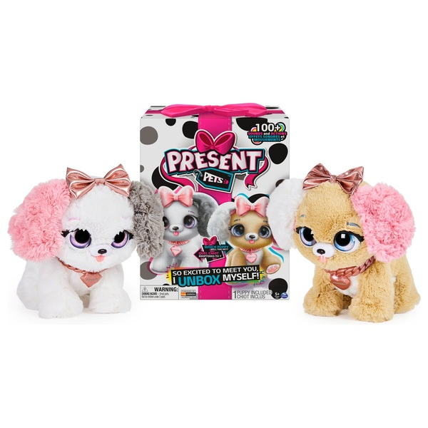 Present Pet Fancy Puppy Interactive Plush Pet Toy Assortment