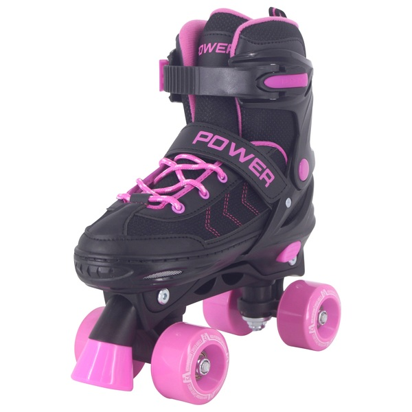 Adjustable Quad Skate Pink Black 3-5