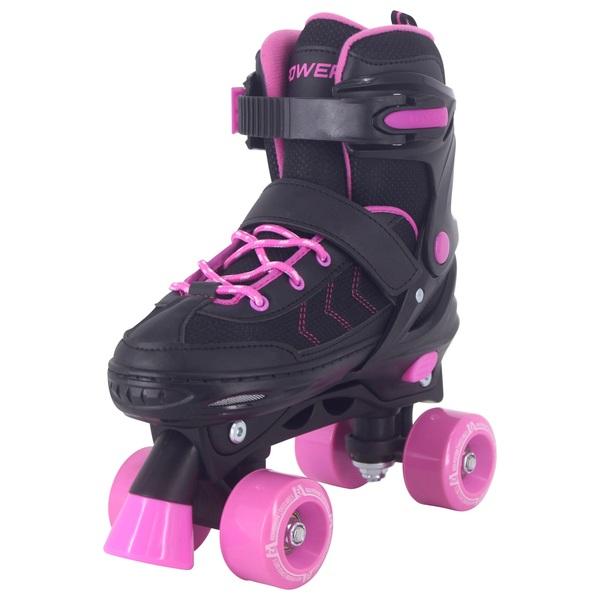 Adjustable Quad Skate Pink Black 13-2