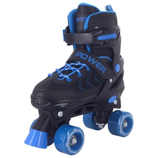 Adjustable Quad Skate Blue Black 13-2