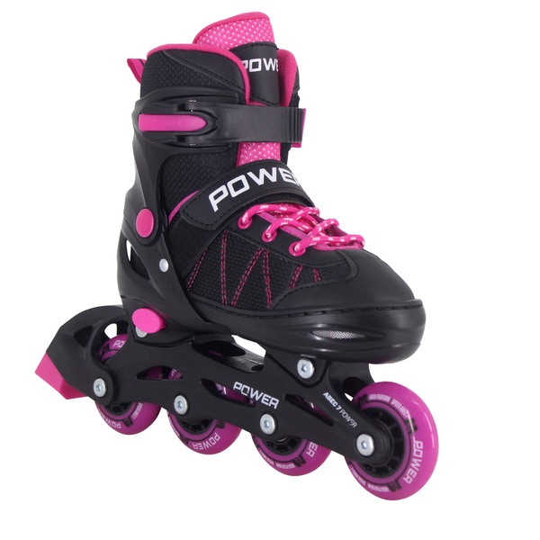 Adjustable Inline Skate Pink Black 12 - 1.5