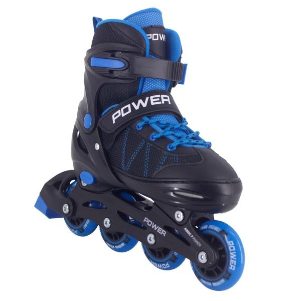 Adjustable Inline Skate Blue Black 2-4