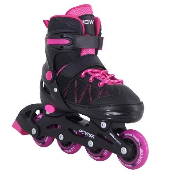 Adjustable Inline Skate Pink Black 2-4