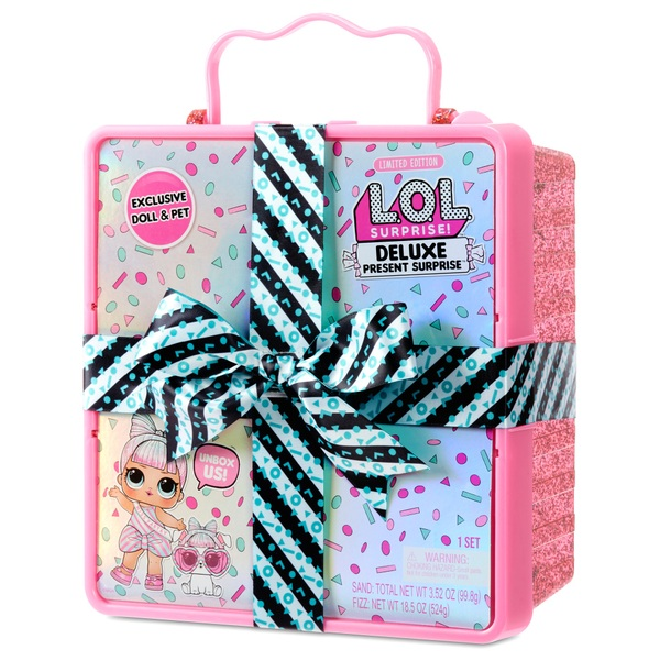 L.O.L. Surprise Deluxe Present Surprise Limited Edition Miss Partay Doll and Pet Pink