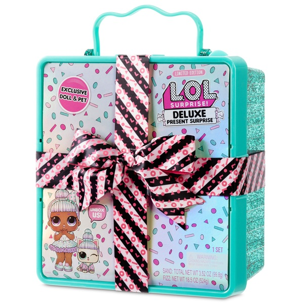 L.O.L. Surprise Deluxe Present Surprise Limited Edition Sprinkles Doll and Pet Teal