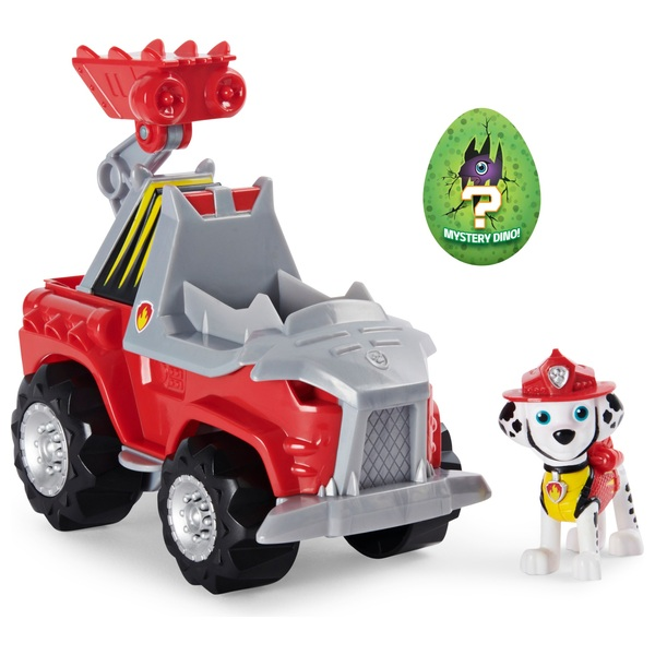 PAW Patrol Dino Rescue Marshall's Deluxe Rev Up Vehicle with Mystery Dinosaur Figure